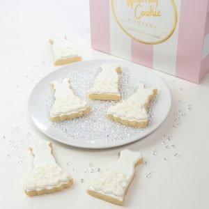 Add a set of Wedding Dress themed cookies to your order