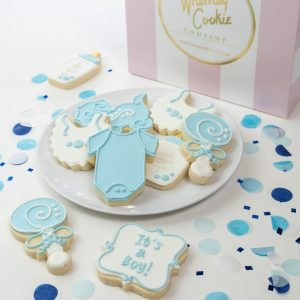 Add a set of our It's a Boy themed cookies to your order