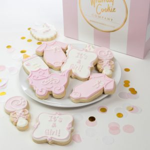 Add a set of It's a Girl themed cookies to your order