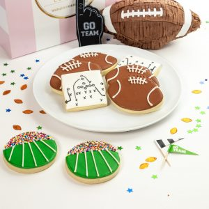 Add a set of Football Plays themed cookies to your order