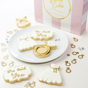 Add a set of She Said Yes! themed cookies to your order