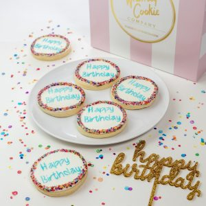 Add a set of Happy Birthday cookies to your order