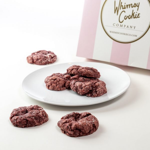 Add a batch of Red Velvet Chocolate Chip Gooey Butter cookies to your order