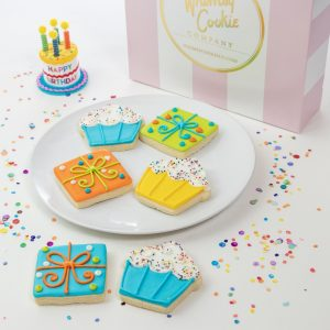 Add a set of Bday Cupcake and Present themed cookies to your order