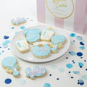 Add a set of Sweet Baby Boy themed cookies to your order