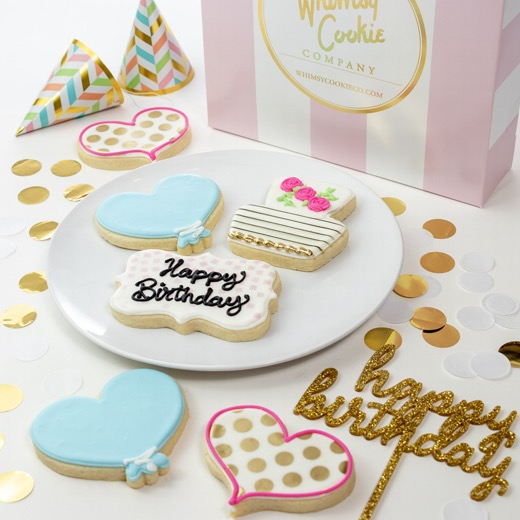 Add a set of For the Birthday Girl themed cookies to your order