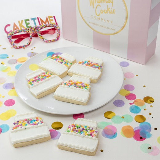 Add a set of CakeTime themed cookies to your order