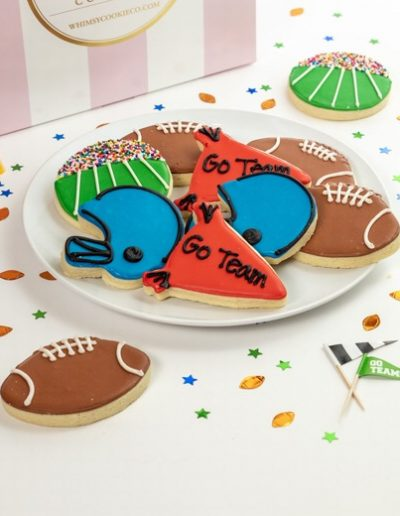 Add a set of Go Team! themed cookies to your order