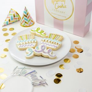 Add a set of Let's Party themed cookies to your order