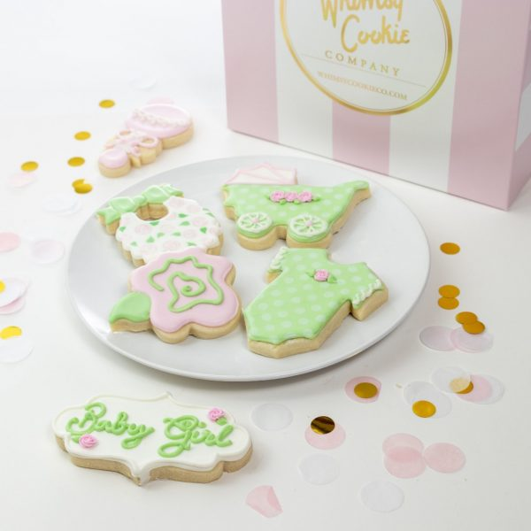 Add a set of Floral Baby Girl themed cookies to your order