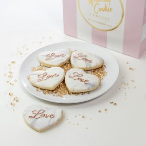 Add a set of Marbled Heart themed cookies to your order