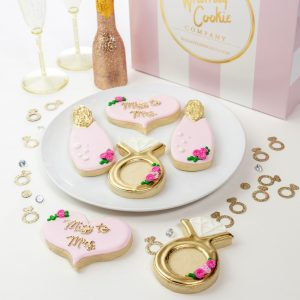 Add a set of Miss to Mrs themed cookies to your order