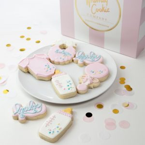 Add a set of Sweet Baby Girl themed cookies to your order