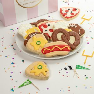 Add a set of Tailgate Snacks themed cookies to your order