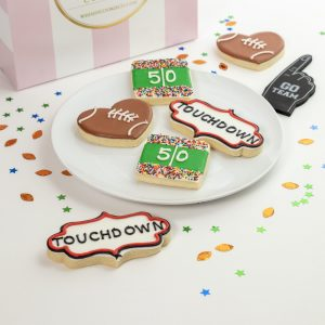 Add a set of Touchdown themed cookies to your order