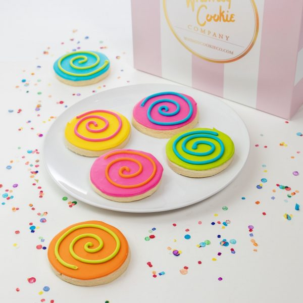 Add a set of our Signature Whimsy Swirl cookies to your order