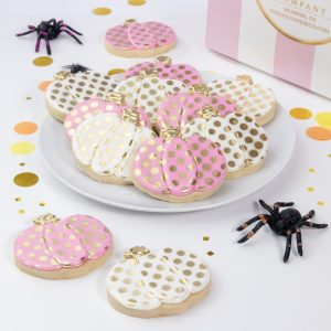 Add a set of our Glam Pumpkin cookies to your order
