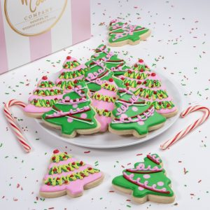 Add a set of these festive Christmas Tree cookies to your order