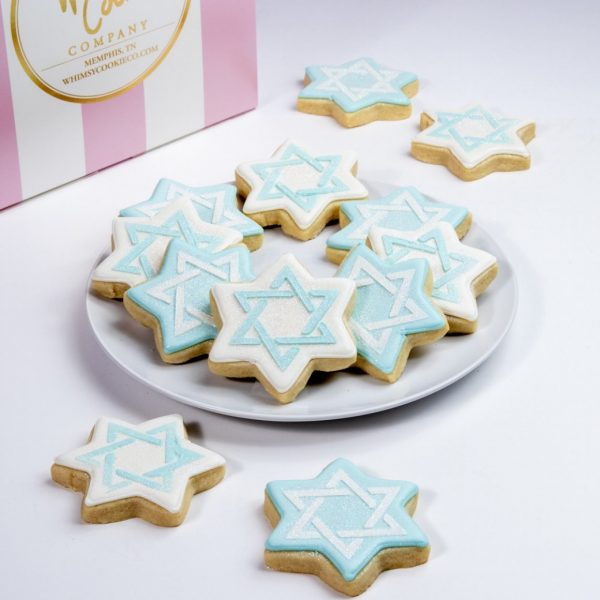 Add a batch of our lovely Star of David themed Hanukkah cookies to your order