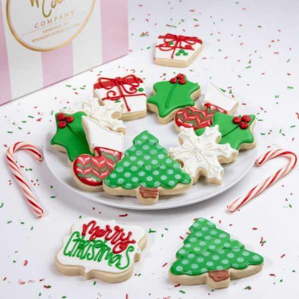Add this festive Merry Christmas Set of cookies to your order