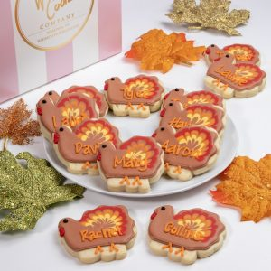 Add a set of these Personalized Turkey cookies to your order