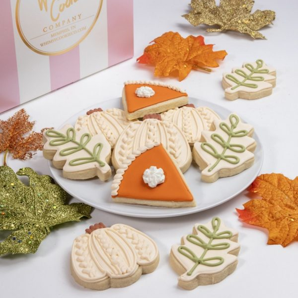 Add a set of our Sweater Pumpkin cookies to your order