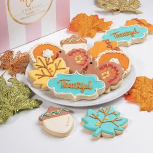Add this set of Thankful themed cookies to your order