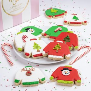 Add a set of our Ugly Sweater themed cookies to your order