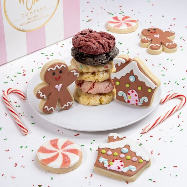 Add this festive mix of gingerbread themed sugar cookies and classic Gooey Butter cookies to your order