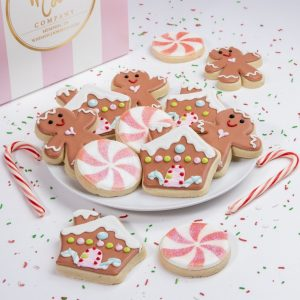 Add a set of our Gingerbread themed cookies to your order