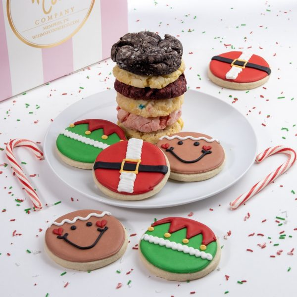 Add this festive mix of cute sugar cookies and classic Gooey Butter Cookies to your order