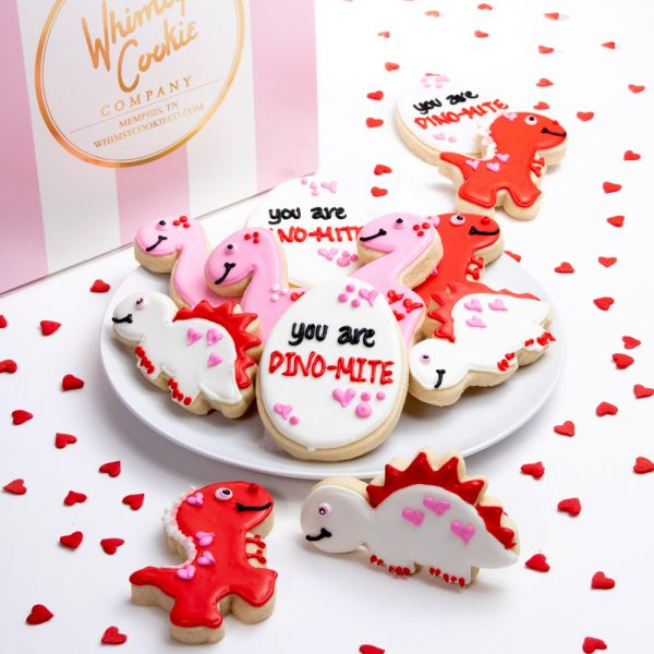 Each set of 12 cookies is made with our incredible sugar cookie recipe, thick, soft and oh so yummy! Each cookie is heat sealed and shipped in our signature pink and white striped box.
