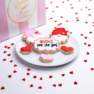 This precious set of cookies is made with our incredible sugar cookie recipe, thick, soft and oh so yummy! Each cookie is heat sealed and shipped in our signature pink and white striped box.
